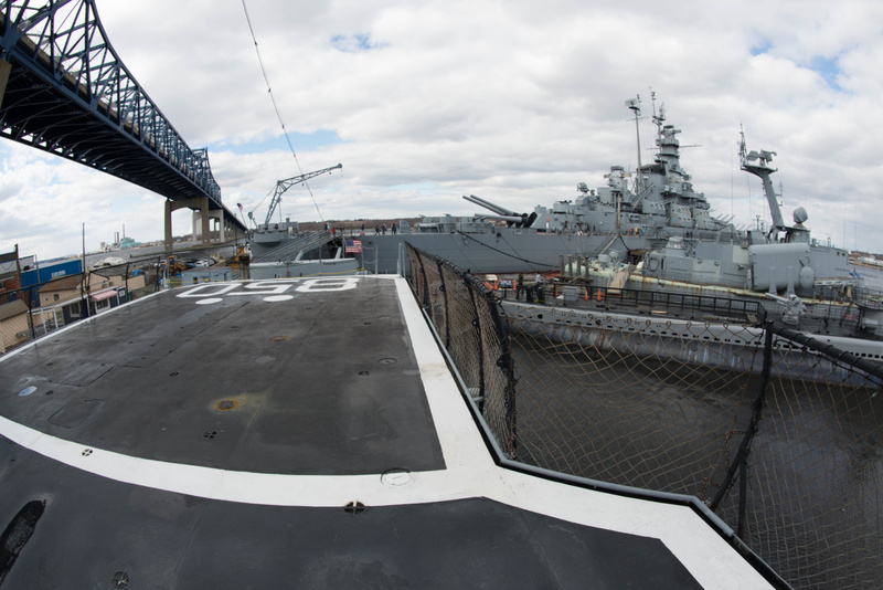 View aft from the helipad on the Joe Kennedy