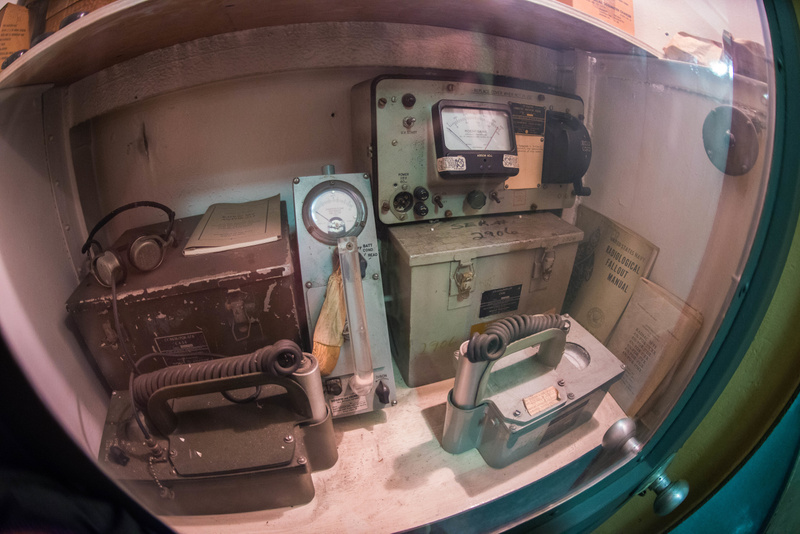 Radiation survey meters, important at the height of the Cold War.