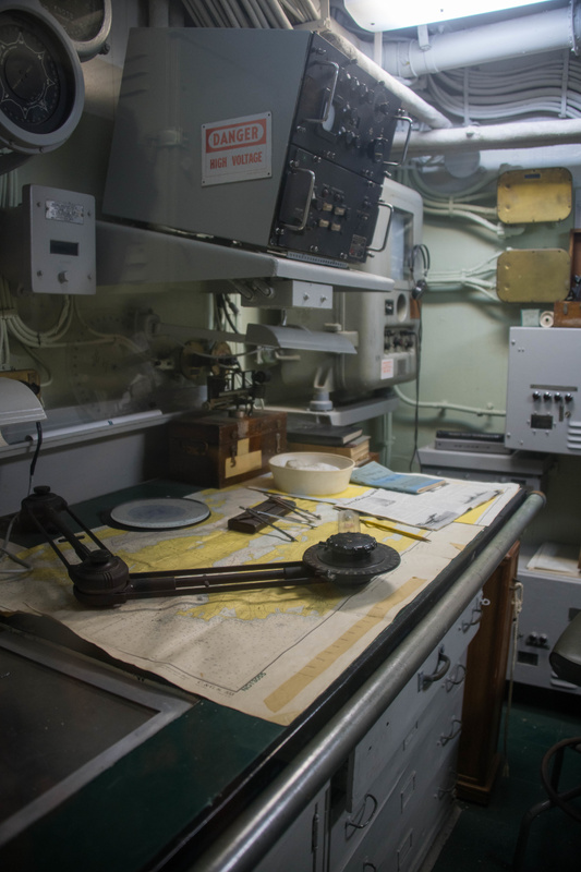 I believe this is the radio room aboard the USS Joseph P. Kennedy.