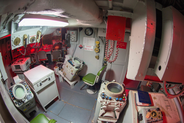 Plenty of radar scopes. USS Joseph P. Kennedy. by Willis...