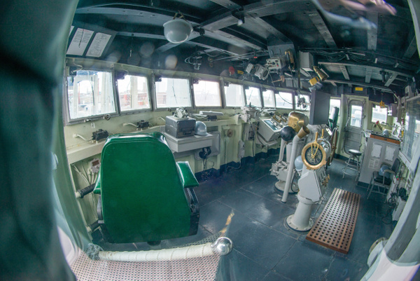 Bridge of the USS Joseph P Kennedy. Much more spacious...