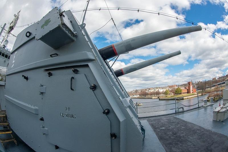 Forward 5 inch turret in the Joe Kennedy