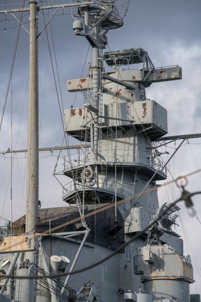 Main superstructure of the USS Massachusetts. by Willis...