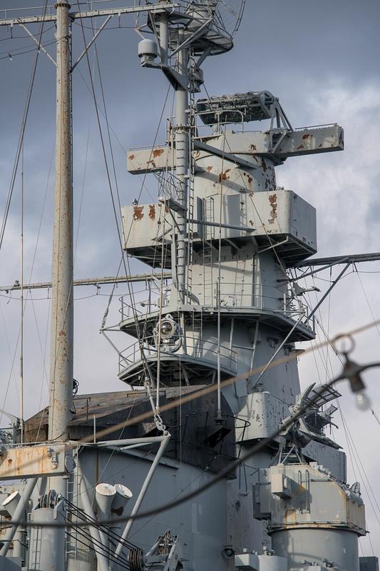Main superstructure of the USS Massachusetts.