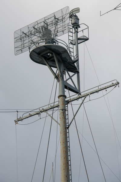 Maintop mast has SR air search antenna and much smaller...
