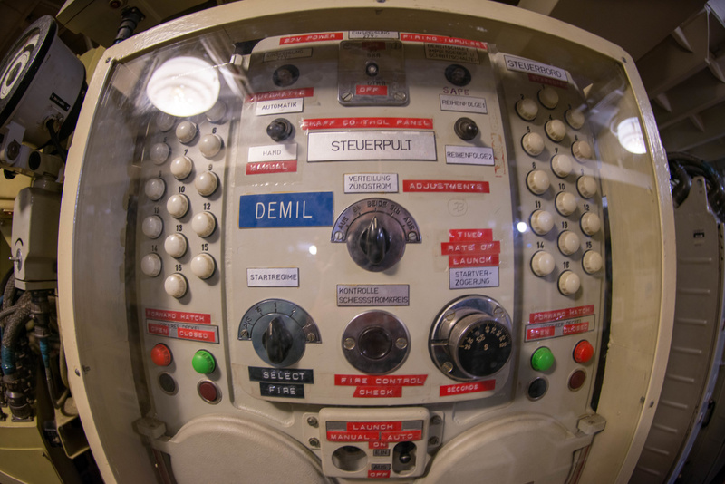 Chaff launcher control panel