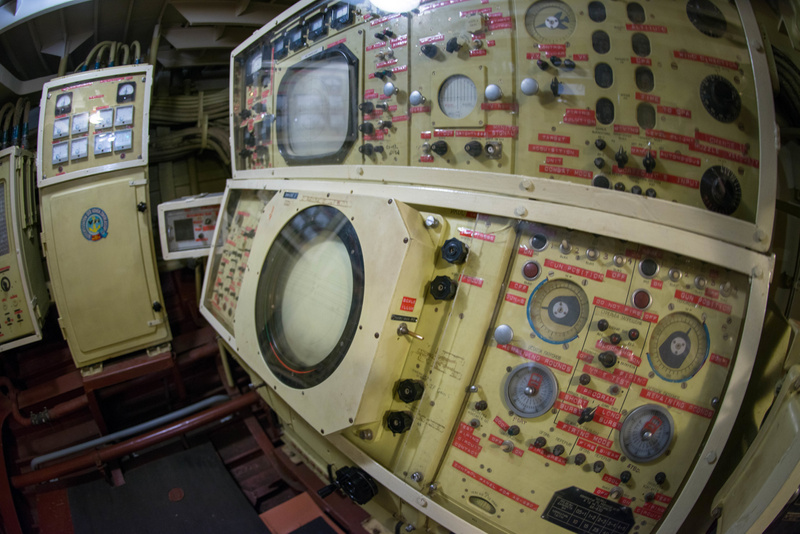 Radar and gattling gun consoles aboard the Hiddensee