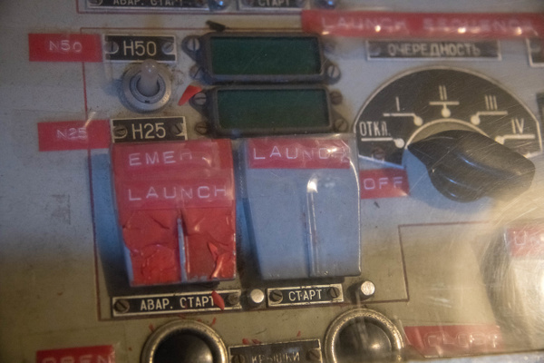 Details on the launch control panel  on the Hiddensee....