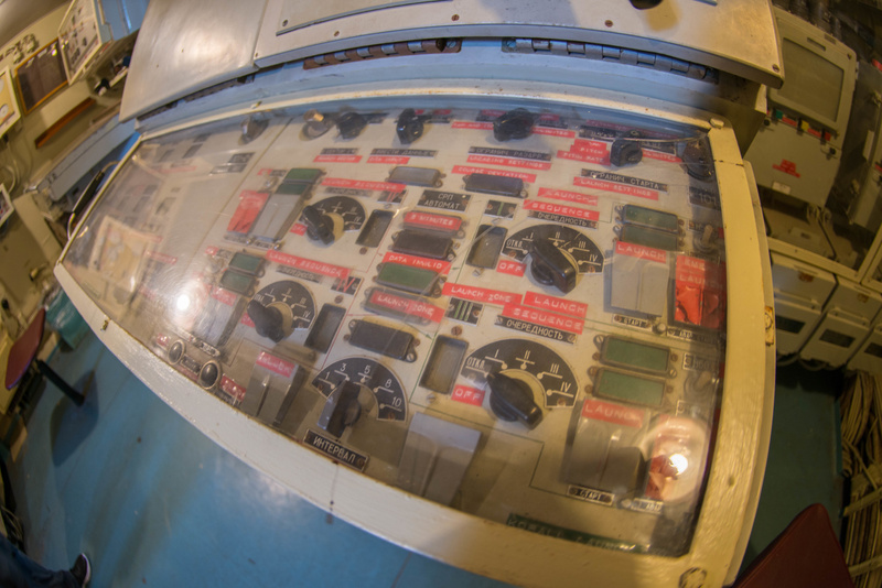 Launch control panel for the Styx missiles aboard the Hiddensee.