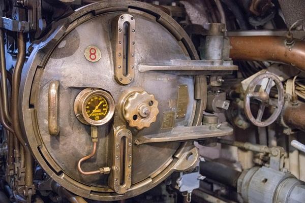 Torpedo tube 8, aft torpedo room, USS Lionfish. by...