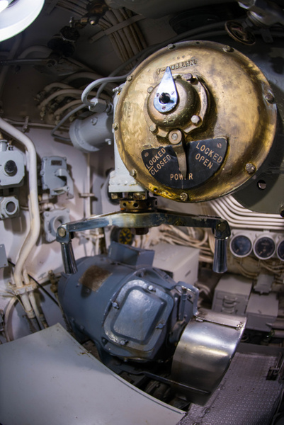 Unknown switching device aboard the USS Lionfish. by...