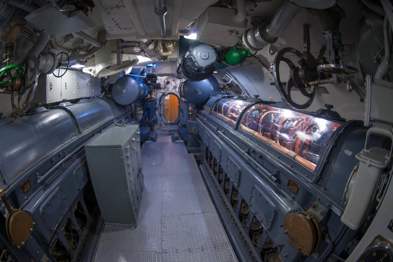 Engine room aboard the USS Lionfish.