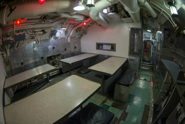 Crew's mess aboard the USS Lionfish. by Willis Chung