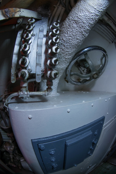 Complicated junction box aboard the USS Lionfish. by...