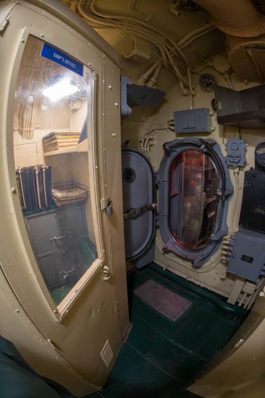 The Ship's Office aboard the USS Lionfish.