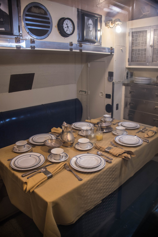 Wardroom aboard the USS Lionfish.