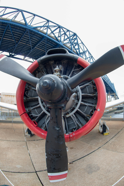 T-28 trainer up close with superwide lens by Willis Chung