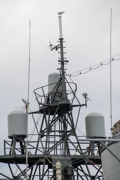 Radar domes, small units on the Joe Kennedy by Willis...