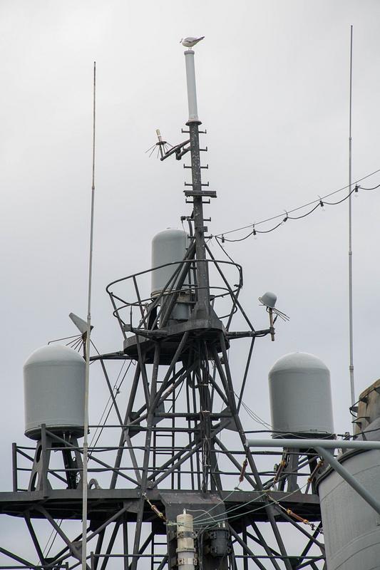 Radar domes, small units on the Joe Kennedy