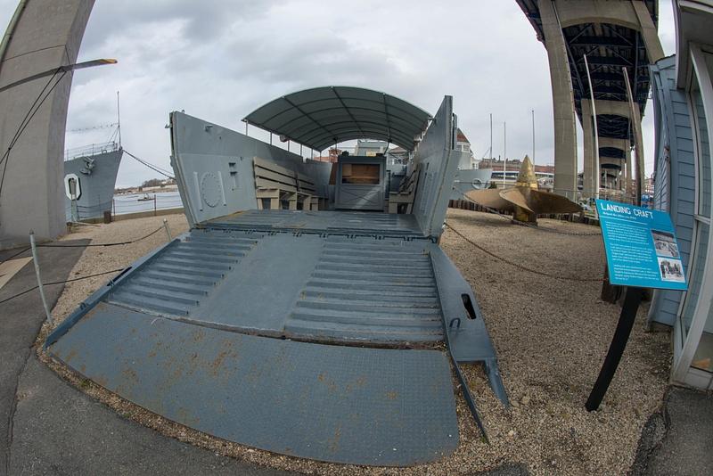 A landing craft from WW II, an LCM.