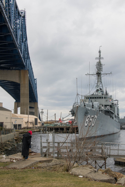 USS Joseph P Kennedy, JR, a Gearing class destroyer. by...