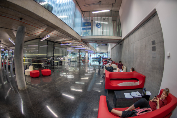 Lobby of the The National Library of Technology by...