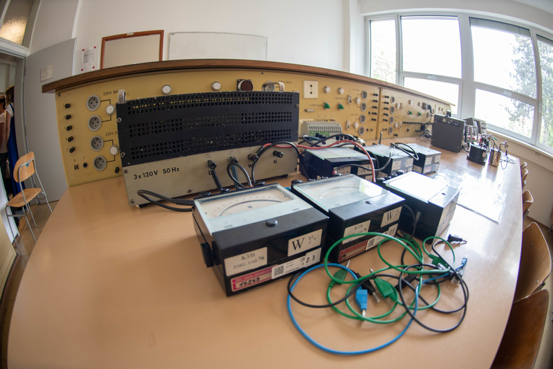 Other side of the electronics bench. Faculty of Electrical Engineering, Czech Technical University