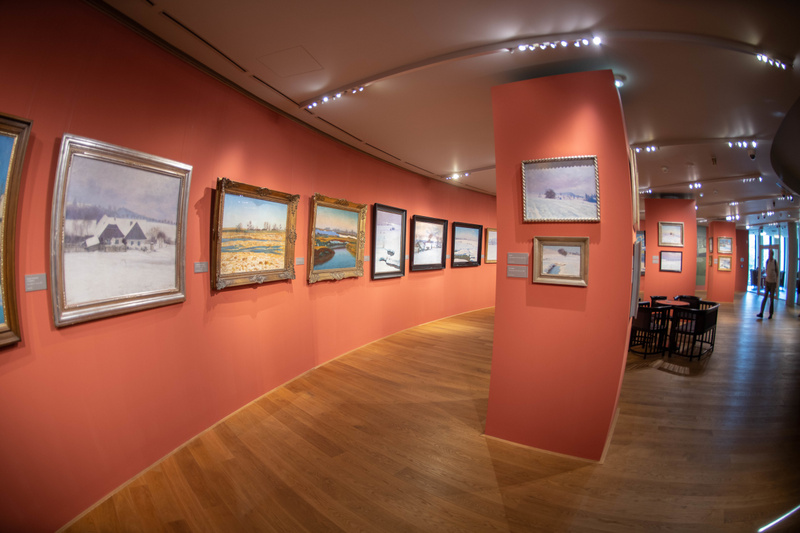 Quite a beautiful collection of photos on the first floor of Main Point Karlín.