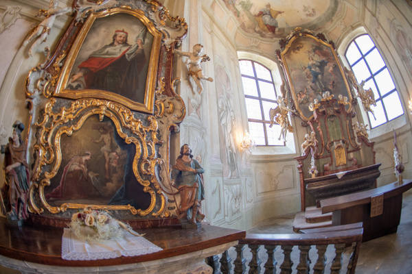 One of the shrines in the Libeň Chateau chapel. by...