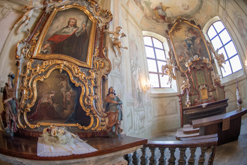 One of the shrines in the Libeň Chateau chapel.