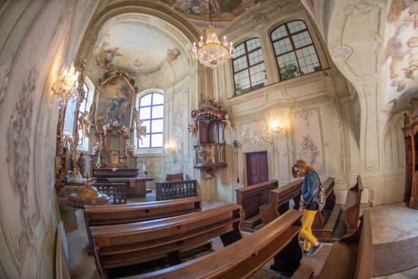 Chapel at the Libeň Chateau by Willis Chung