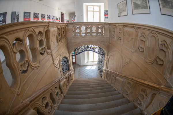 Grand staircase of the Libeň Chateau by Willis Chung