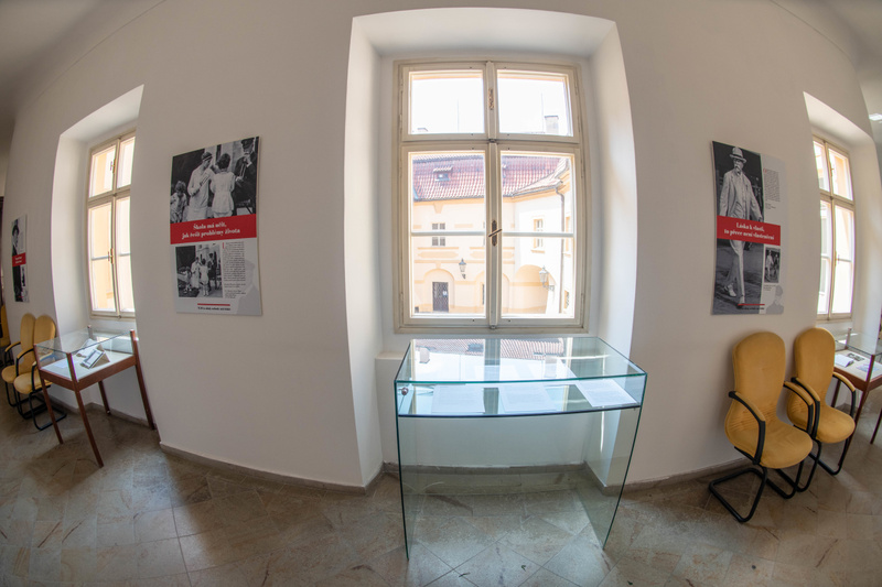 A museum display on the second floor of the Libeň Chateau