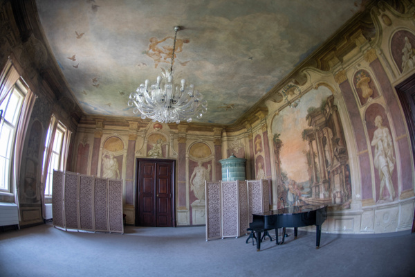 Another view of the Libeň Chateau meeting room. by...
