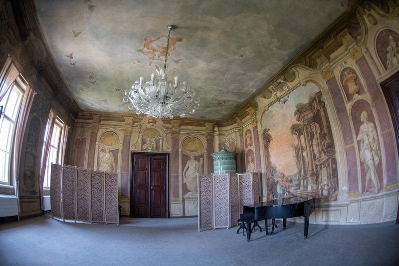 Another view of the Libeň Chateau meeting room.
