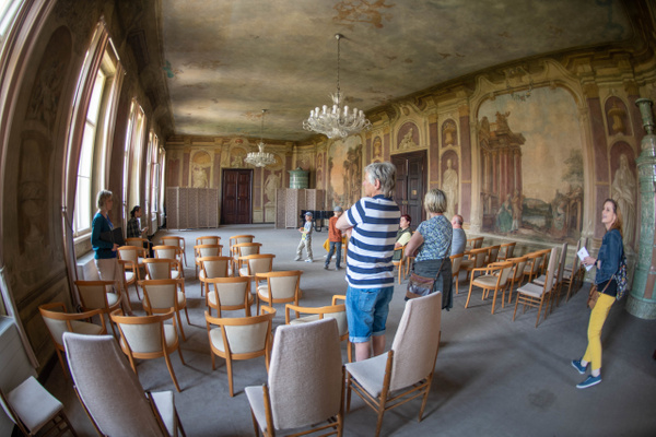Main meeting room of the Libeň Chateau by Willis Chung