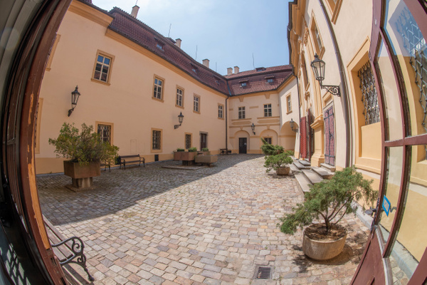 Courtyard of the Libeň Chateau, in Praha 9. by Willis...