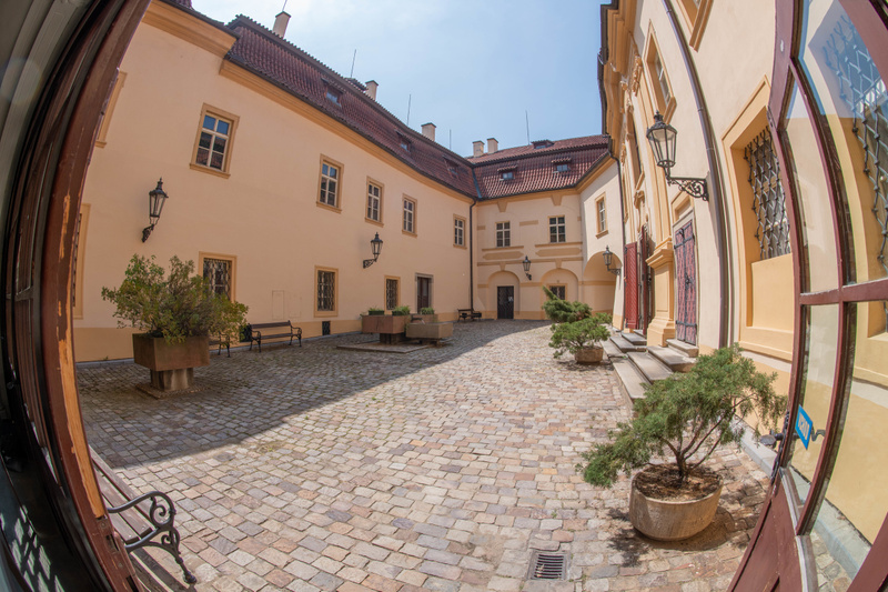 Courtyard of the Libeň Chateau, in Praha 9.