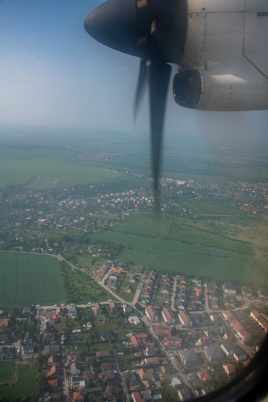 My view from the ATR-72 approaching Prague