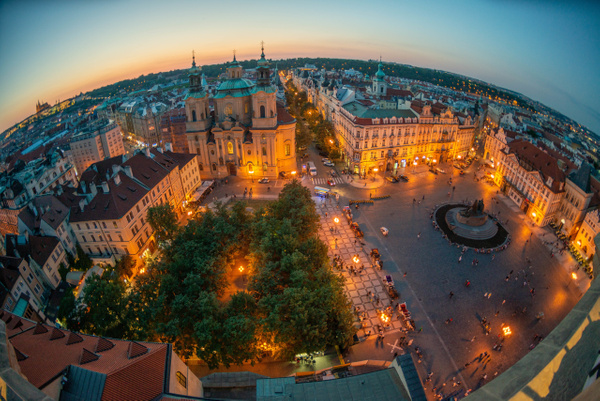 Day 2: Sunset at Old Town Hall Tower by Willis Chung