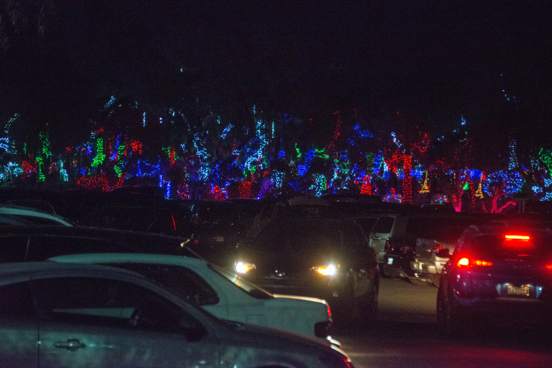 Arriving at the Ethyl M Chocolates for the Cactus Garden Holiday Lights