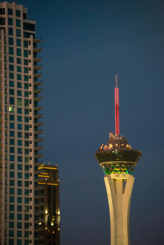 The Stratosphere is just to the north.