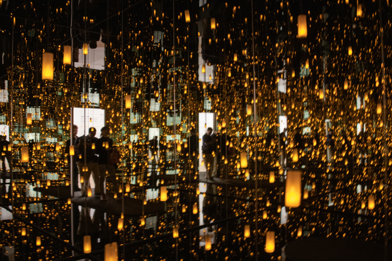 Grabbing a photo as we step into the Infinity Room for our 45 second visit.