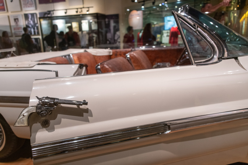 Webb Pierce's gunned up 1962 Pontiac Bonneville, gussied up by Nudie Cohen.