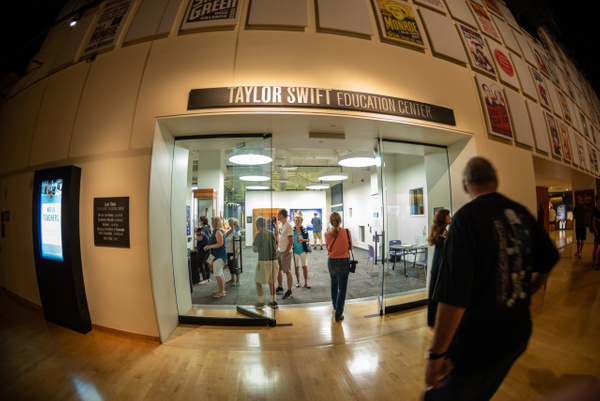We find the Taylor Swift Education Center and take a...