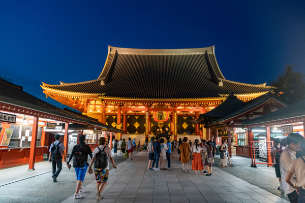 Day 8 Sensō-ji Temple Evening by Willis Chung