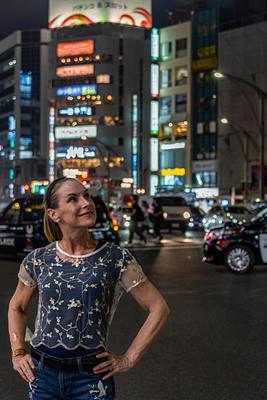 Day 16 Peggy posing at Ueno