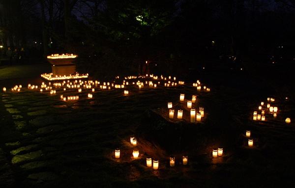 Twilight, cemetery, Vaasa by Mariah Nile