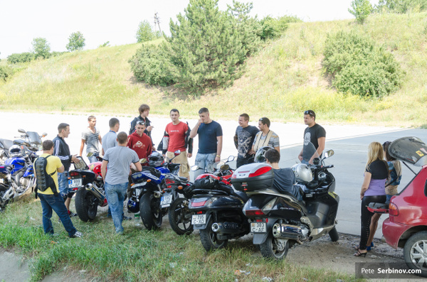 Moto Drag Race by Pete Serbinov