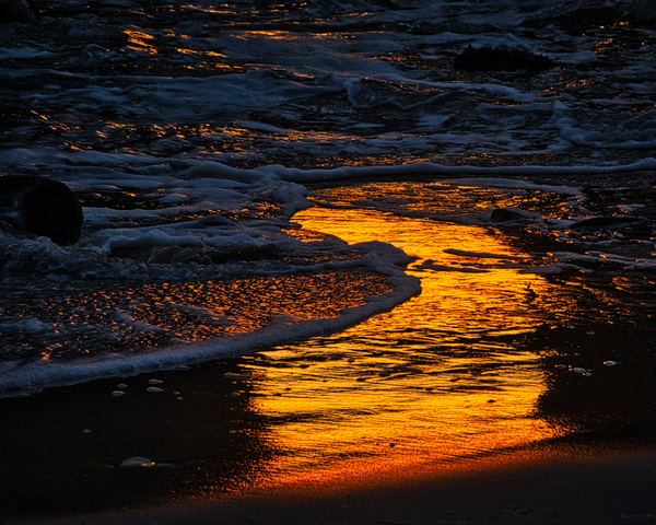 130 Pfeiffer Sun Portal Late Sunset Reflection of Wet Sand 20171226 #3  130of365 - California Landscapes - Gregory Edwards Photography